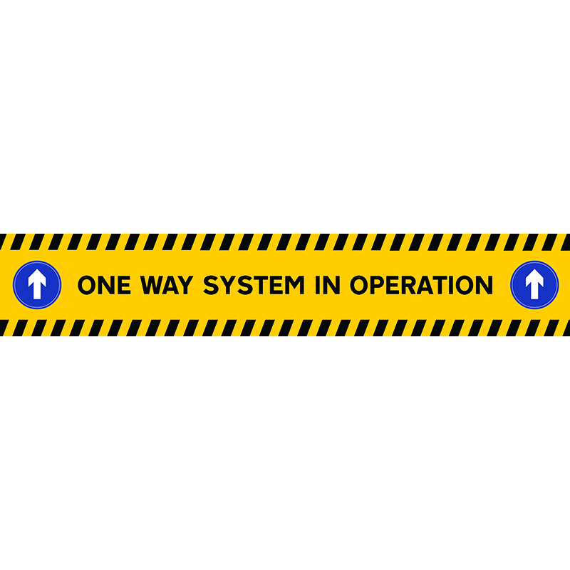 one way system on stairs sticker