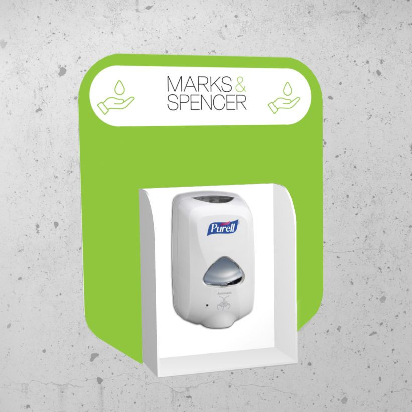 wall mounted hand sanitiser stand branded