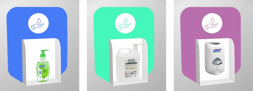 buy branded wall mounted hand sanitiser unit